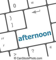 tarde, palavra, ligado, computador, pc, teclado, tecla