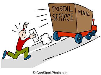 tarde, urgente, correio