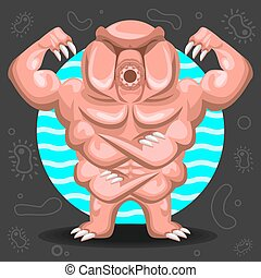 Tardigrade Water Bear illustration - Illustration of...
