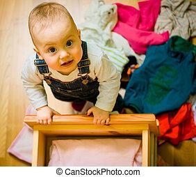 tareas, -, agarrado, doméstico, acto