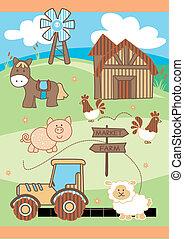 targ, farm.