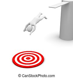 target., αμολλάω κάβο , illustration., αγνοώ , 3d , κόκκινο...