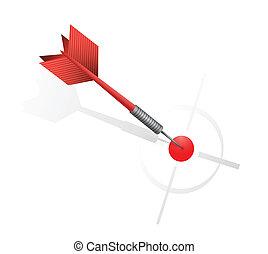 target., イラスト, さっと動きなさい, ヒッティング, デザイン, 赤