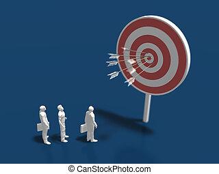 target., イラスト, 3d