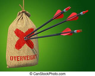 target., 矢, 衝突, 太りすぎ, -, 赤