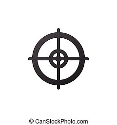 target aim scope icon, vector illustration isolated on white background.