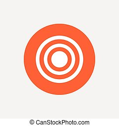 Target aim sign icon. Darts board symbol.