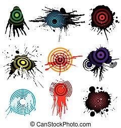Target Aiming grunge design, vector illustration file.