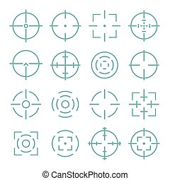 Target and aiming to bullseye illustration. - Crosshairs...