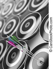 Target And Arrow Background, Marketing Or Business Goal Concept