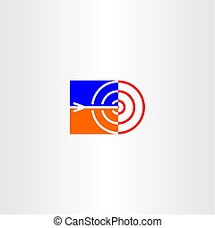 target and arrow point vector icon logo