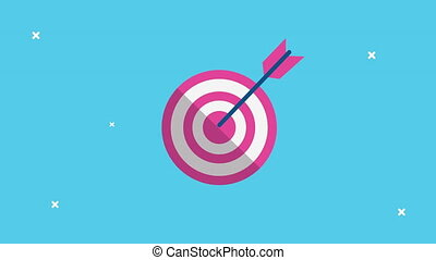 target and arrow success animated ,4k video animation