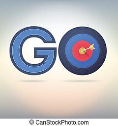 Target and arrow, word go.