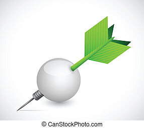 target and ball illustration design over a white background