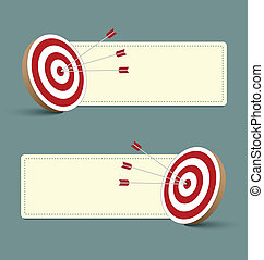 Target and banners - Target, arrows and banners isolated on...