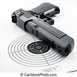 Target and gun