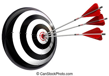 target and three arrows conceptual image