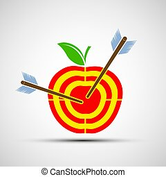 Target apple. Icon image.