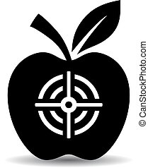 Target apple vector pictogram