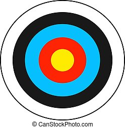 Archery target graphic.