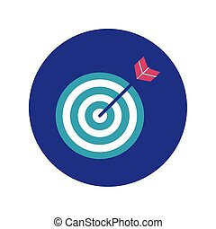target arrow block and flat style icon