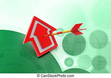 target arrow hit the home