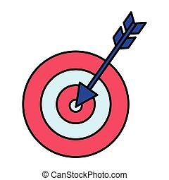 target arrow success icon vector illustration