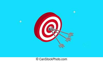 target arrow success video animation