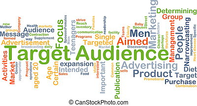 Target audience background concept