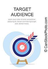 Target Audience Concept Flat  Background. Vector Illustration