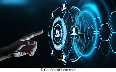 Target Audience Marketing Internet Business Technology Concept