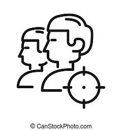 target audience vector illustration design