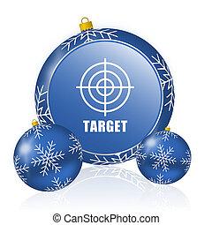 Target blue christmas balls icon
