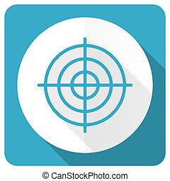 target blue flat icon