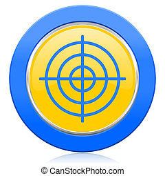 target blue yellow icon