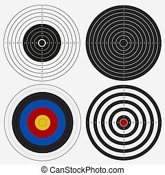 Target Board for Competition, darts Game. Vector