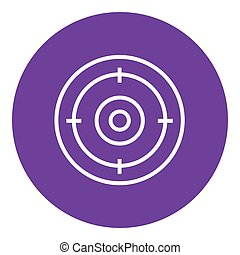 Target board line icon.
