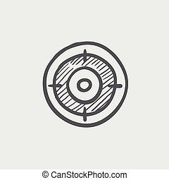Target board sketch icon