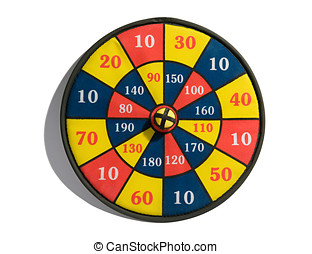 Target board with a bullseye - Conceptual image of a...