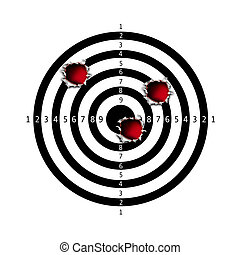 Target bullet holes