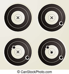 target bullet set - Collection of four targets with...