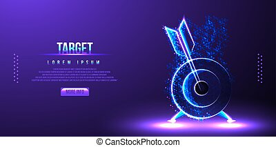 target bulls eye low poly wireframe