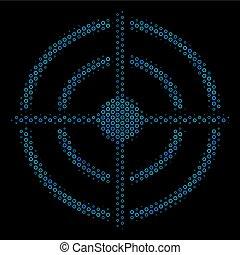 Target Bullseye Composition Icon of Halftone Circles
