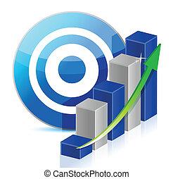 target Business illustration design over a white background