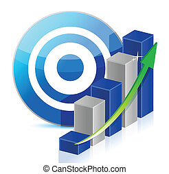 target Business illustration design over a white background