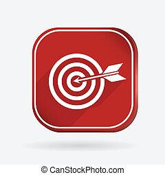 target. Color square icon