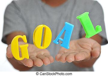 target., concept., palavra, metas, plano