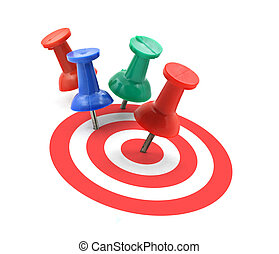 target concept - red thumbtack placed in the centre