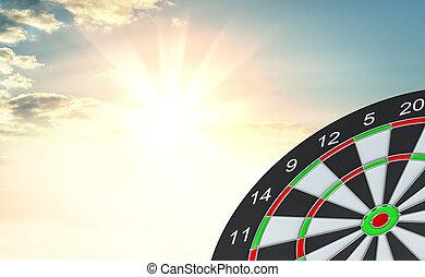 Target dart. 3d illustration
