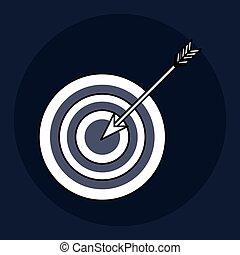 target design. blue background. Colorful illustration , vector